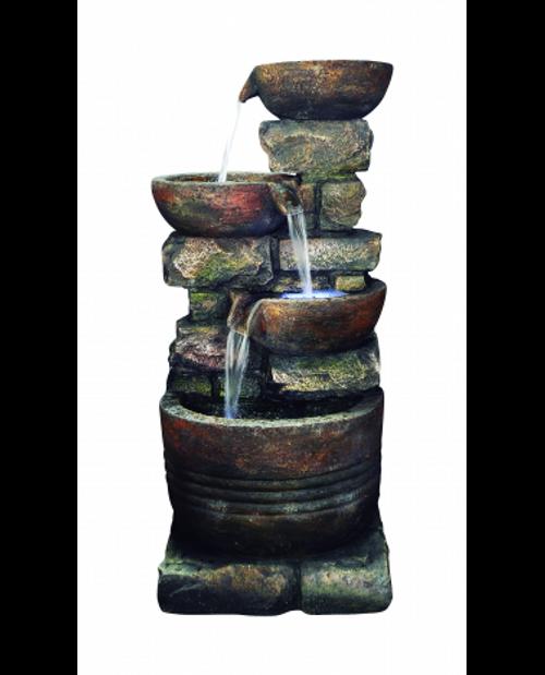 Kelkay Roman Spills Water Feature With LED Lighting