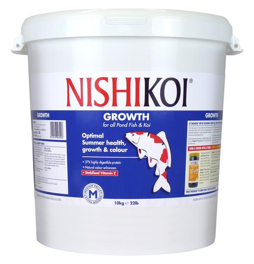 Nishi Koi Growth 10kg Medium Pellet