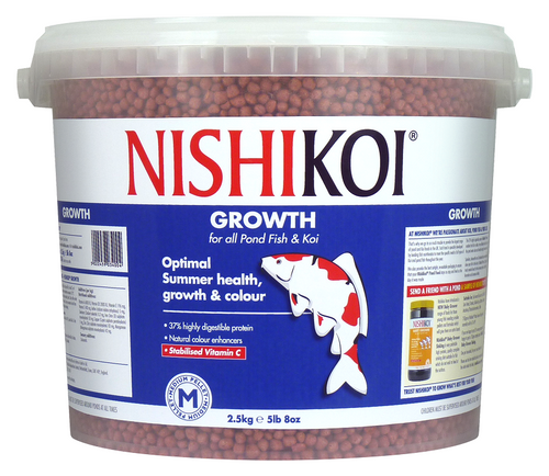 Nishi Koi Growth 2.5kg Medium Pellet