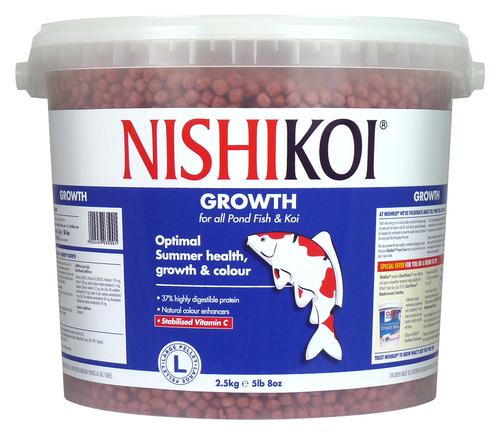 Nishi Koi Growth 2.5kg Large Pellet