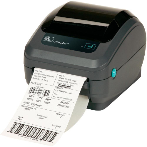 Zebra GK420D Direct Thermal Label printer with Ethernet Connection