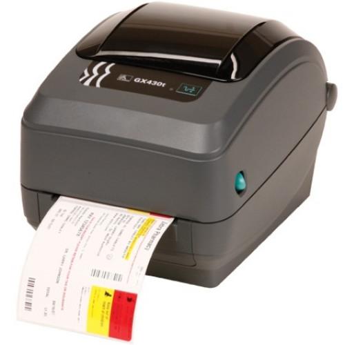 Zebra GX420T 4IN Desktop Thermal Transfer Printer 203DPI UK/AU/JP Cords EPL2 ZPL II USB SERIAL 802.11G LCD
