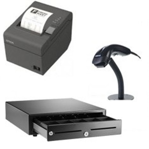 SwishPOS Retail Bundle - Epson TM-T82-i Intelligent Printer, Cash Drawer, Barcode Scanner