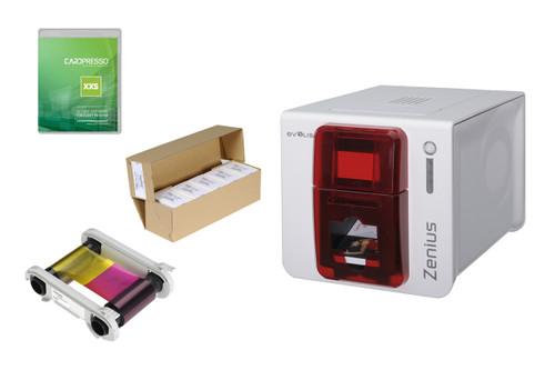Evolis Zenius Expert Single Sided ID Card Printer includes 100 cards, ribbon & Cardpresso XXS Lite Software