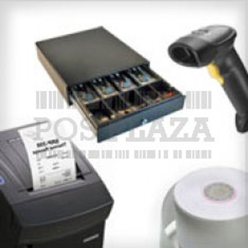 "Epson TM-T82III Thermal Printer Serial or Parallel & USB + Nexa 80"" Thermal Rolls, Box 24 + Nexa CB900 Cash Drawer + Nexa NC-1200 Scanner  & Stand"