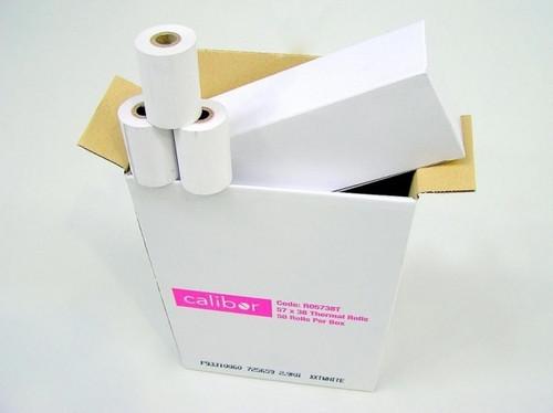 CALIBOR THERMAL PAPER 80X80 24 ROLLS/BOX 25MM/CORE
