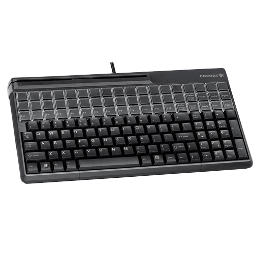 CHERRY SPOS 61410 QWERTY Keyb MSR USB Black