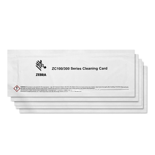 ZC300 Cleaning Cards - Pack of 10