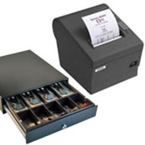 Epson TM-T82III Serial or Parallel & USB + EC410 Cash Drawer