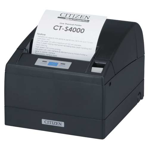 """CITIZEN CTS-4000 4"""" Thermal Printer USB Parallel  Black"""