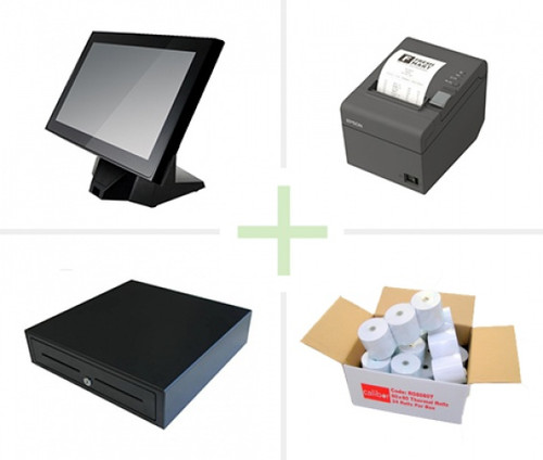 POS Bundle - Element 315 POS Terminal, TMT82 Printer, EC410 Cash Drawer, Paper Rolls