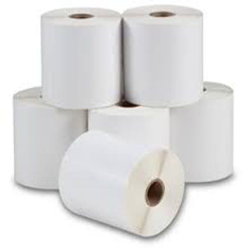 33mm x 19mm - White Gloss Thermal Transfer Labels, Permanent Adhesive, 25mm Core, (2000/roll)