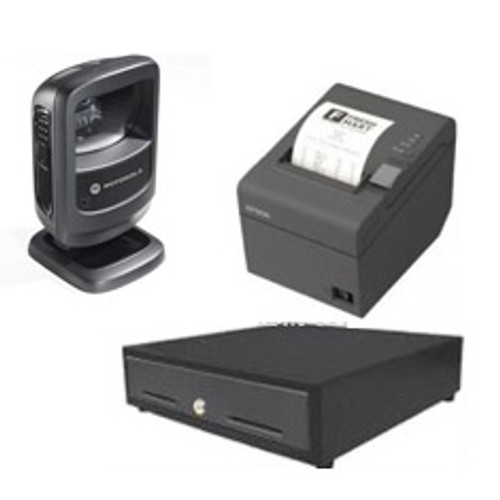 Ds9208-Digital Scanner -Printer And Cash Drawer Bundle