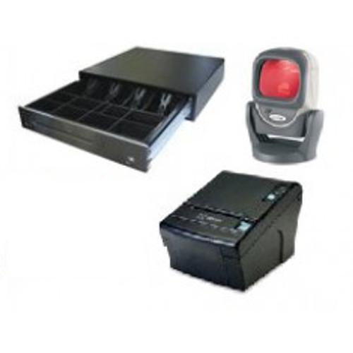 Thermal Receipt Printer + Heavy Duty Cash Drawer + Motorola Desktop Scanner