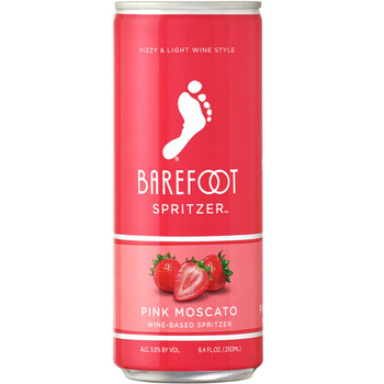 Barefoot Spritzer Pink Moscato 4 Pack 250ML
