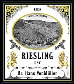 Dr. Hans Vonmuller Dry Riesling 750ML