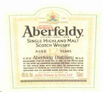 Aberfeldy Single Malt Scotch 12Yr 750ML