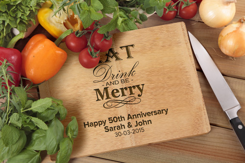 Personalised Chopping Board Premium - Anniversary - Eat and Drink