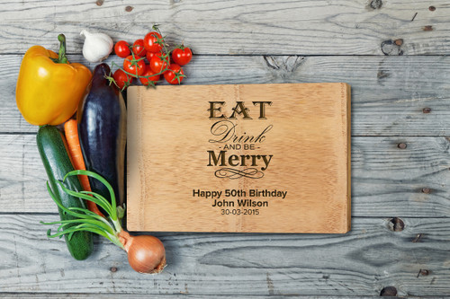 Personalised Chopping Board Premium- Birthday - Eat and Drink