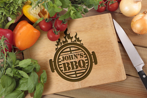 Personalised Chopping Board Premium - BBQ - Flame Grill