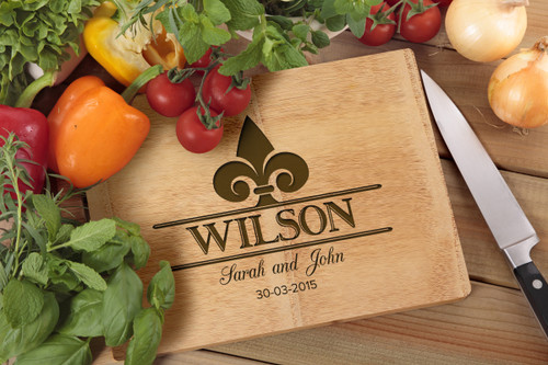 Personalised Chopping Board Premium - Couples - Spearhead