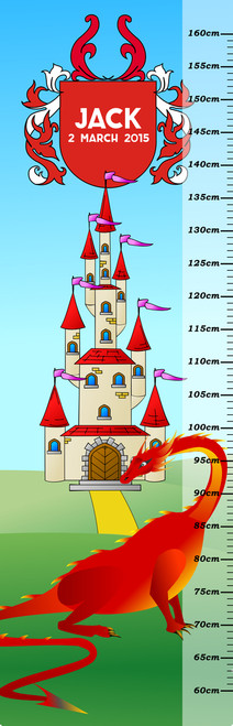 Growth Chart - Castle & Dragon