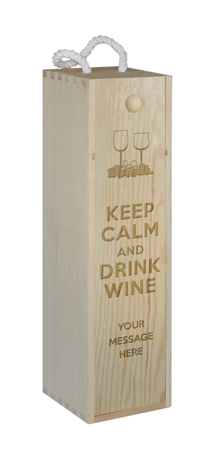 Wine Box - single - Keep Calm