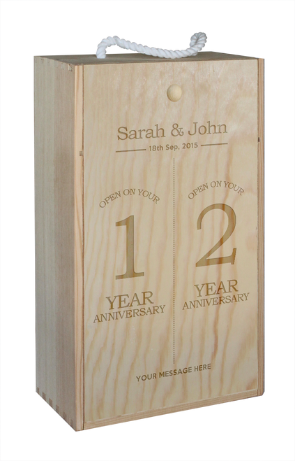 Wine Box - double - Anniversary