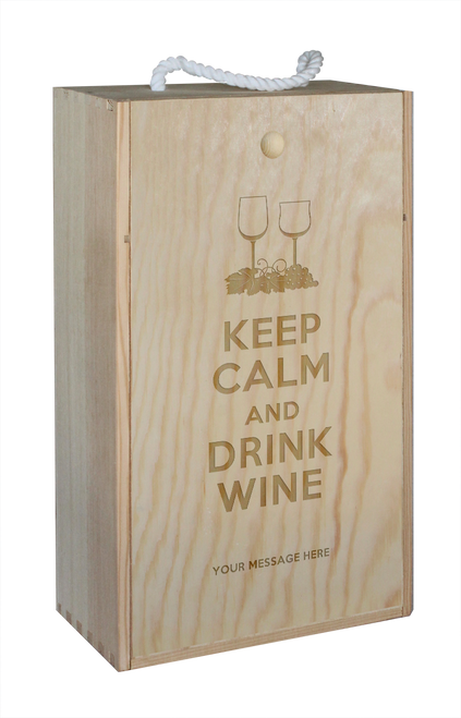 Wine Box - double - Keep Calm