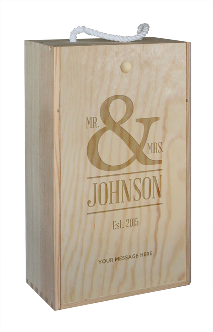 Wine Box - double - Mr & Mrs - Symbol