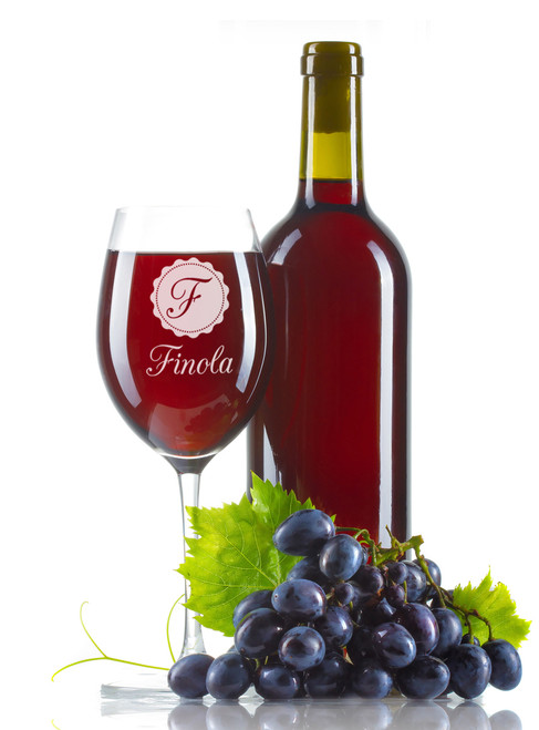 Personalised Wine Glass - Label