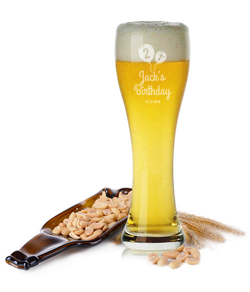 Personalised Beer Glass - 21st