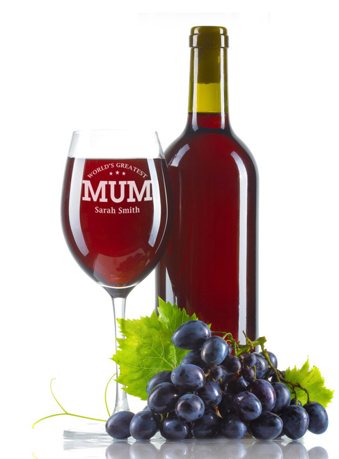 Personalised Wine Glass - Greatest Mum