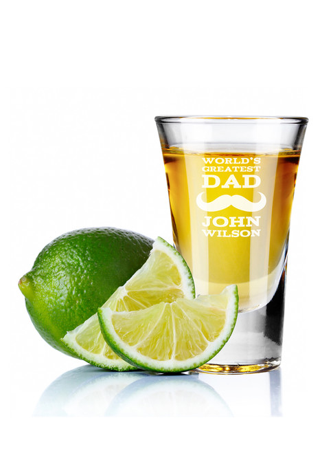 Personalised Shot Glass - Greatest Dad.