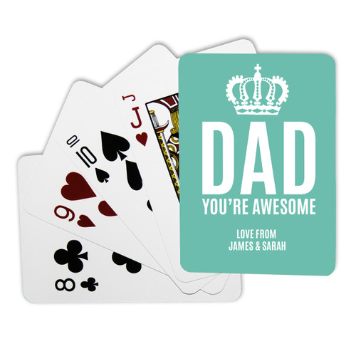 Personalised Playing Cards - Awesome Dad