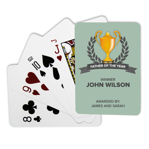 Personalised Playing Cards - Father of the Year