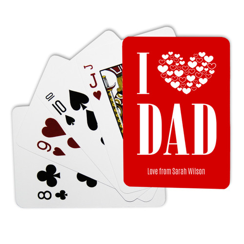 Personalised Playing Cards - I Love Dad