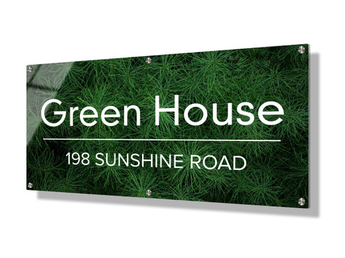 Business sign 30x60cm - Green foliage