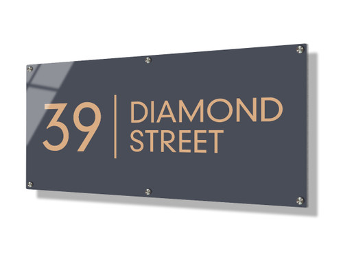 Business sign 30x60cm - Clean lines