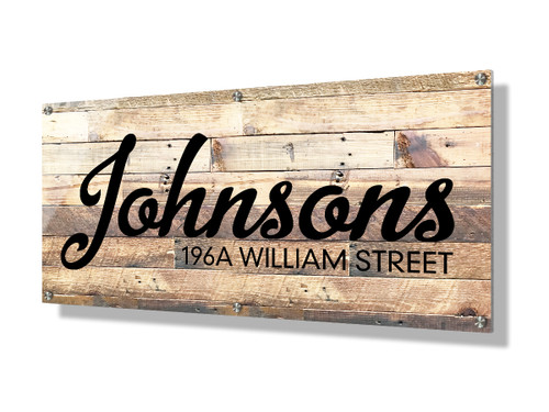 Business sign 30x60cm - Rustic wood