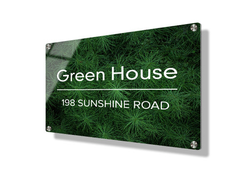 Business sign 15x20cm - Green foliage