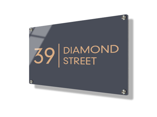 Business sign 15x20cm - Clean lines