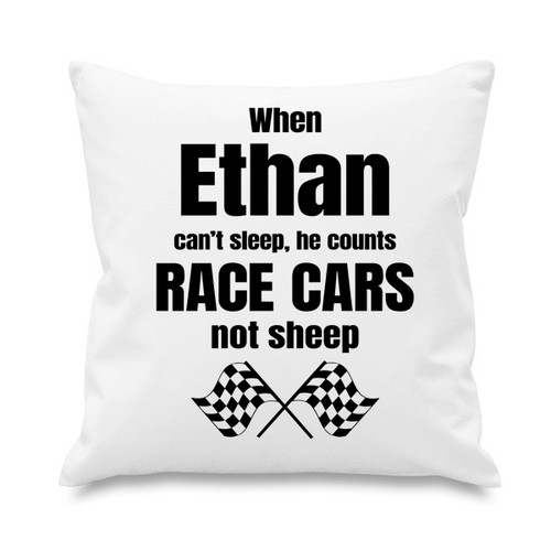 Cushion cover - Counts race cars