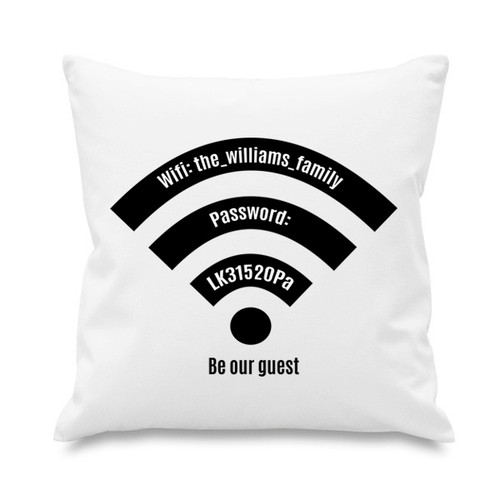 Cushion cover - WiFi - Be our Guest
