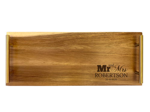Personalised Serving Tray - Mr and Mrs
