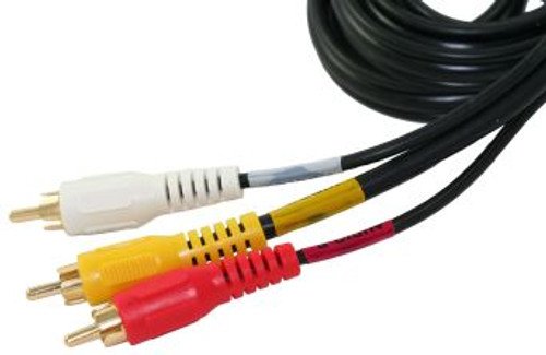 50FT Triple RCA Composite Audio Video Cable- Red, White, & Yellow (CA-2908)