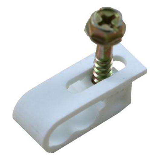 Dual Coax Flexible Cable Clips (White) (100PCS) (FC-2WH)