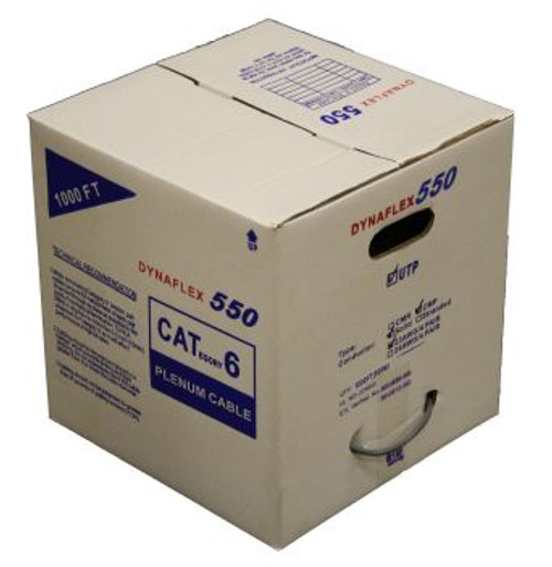 Cat6 Plenum UTP Solid - Gray (1000FT. Box) (234PRPL6GY-1RB)