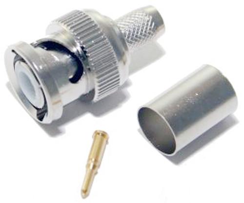 3 Piece RG-59/62 Crimp BNC Connector (CA-2002)