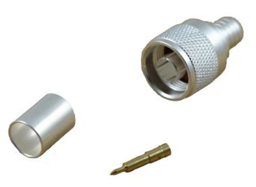 3 Piece Male Crimp N Connector For LMR-400, Belden 9913, RG-8 (CA-2116)